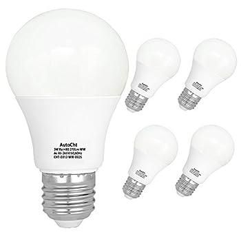 LED Light Bulbs 25 Watt Incandescent Equivalent High Bright E26 Base 3 Watt Soft White Energy Saving Bulbs Home Lighting 270 Lumens Pack of 5