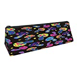 Coloridos setas triángulo lápiz lápiz bolsa portátil papelería caso para adultos cosméticos bolsa