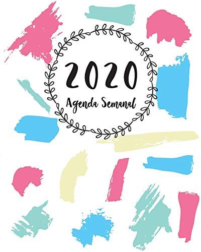 Agenda Semanal 2020: del 1 de enero de 2020 al 31 de diciembre de 2020 | Calendario Planificador Semanal + Prioridades y Pendientes - 8x10 Pulgadas (En Español)