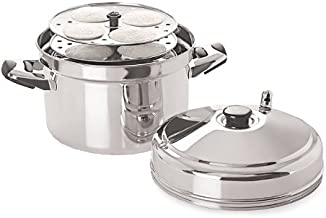 Tabakh IC-206 6-Rack Stainless Steel Idli Cooker with Strong Handles, Makes 24 Idlis