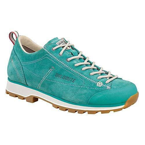 Dolomite Damen Zapato Cinquantaquattro Low W Sneaker, Aqua Marine Grün/Beige Canapa, 39 1/3 EU