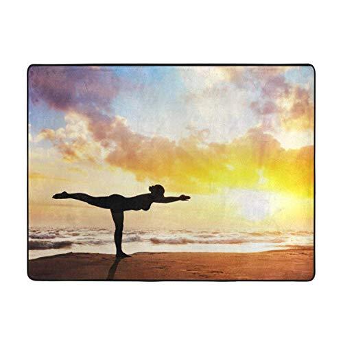 Alfombra de la habitación El yoga y la puesta del sol anti de la resbalón de yoga alfombra for estar alfombras gruesas S del sofá del dormitorio de la sala de baño alfombra de la estera antiestática l