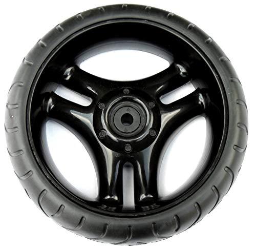 EXCOLO Kettcar Räder schwarz 13 mm Narbe Ersatz-Teil Rad Felge Reifen für Kettler Tretauto