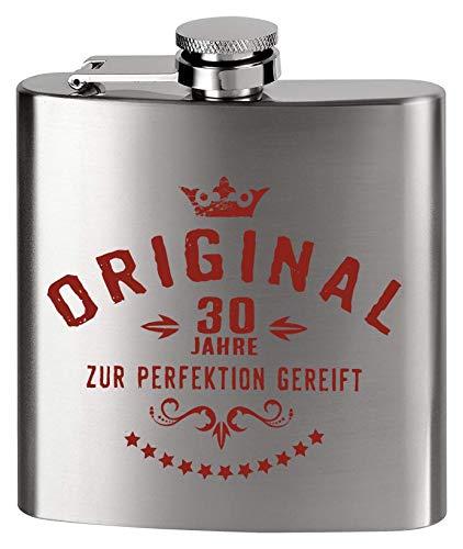 MCK Austria Design - Fiaschetta in Metallo, Stampa al Posto dell'incisione, per Compleanno, 30 Anni