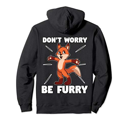 Red Fox Furry Fursona Hoodie For Furries Ears Tails Gifts