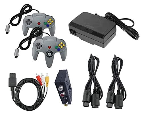 Zubehör Set Für Nintendo 64 Konsole Controller Netzteil Scart Kabel Adapter Kabel Verlängerung N64
