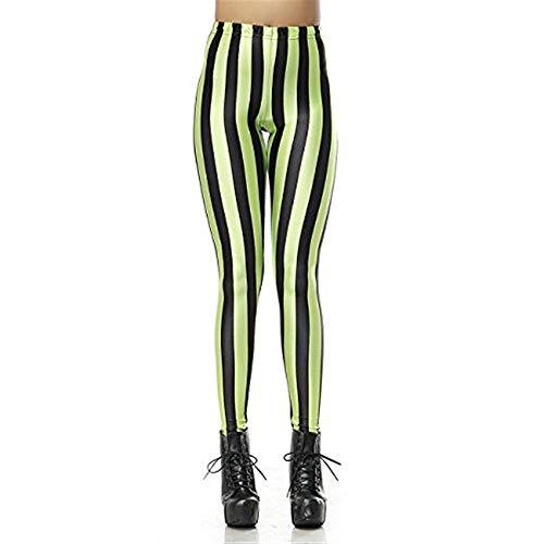 HaiDean Leggings broek voor dames, ruiten, digitaal bedrukt, chique jongens, effen leggings