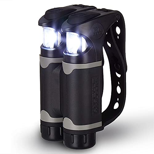 Knuckle Lights Colors - Running Light for Runners, Joggers, Dog Walking, Camping & Hiking. Unique LED Flashlight as an Alternative to Headlamps. A Great Addition to Your Night Reflective Running Gear