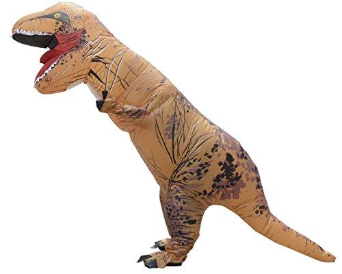 LaoZan Erwachsene T-Rex Aufblasbares Kostüm Halloweenkostüm TRex