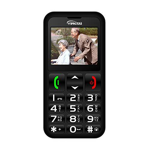 Teléfono Móvil para Personas Mayores con Teclas Extra Grandes, Fácil de Usar Celular para Ancianos con SOS Botones YINGTAI T11 2G
