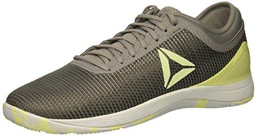 Reebok Herren Crossfit Nano 8.0 Flexweave Sneaker, (Zinn Greyhai / Zitronenschale), 43 EU