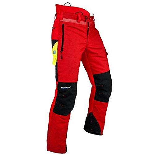 Pfanner Ventilation Schnittschutzhose Klasse 1 Gladiator Gewebe, Farbe:rot, Größe:S (kurzgr.)