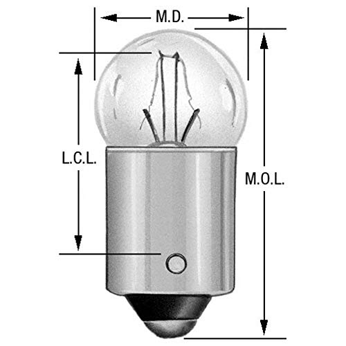 Wagner Lighting BP53 Miniature Bulb - Card of 2