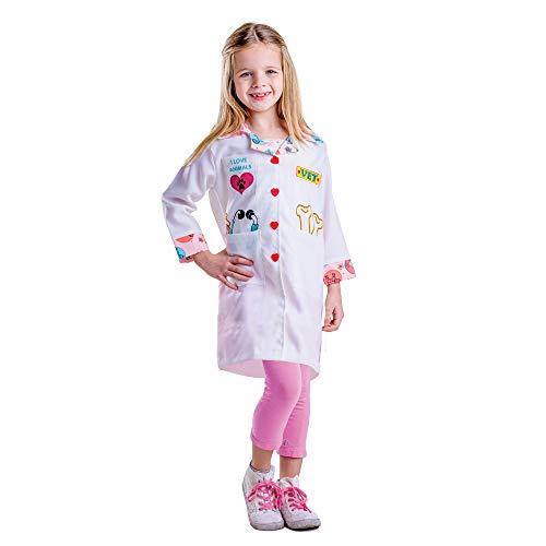 Dress Up America- Costume Déguisement vétérinaire pour Petite Fille, 485-L, 12-14 Ans (Taille: 86-96, Hauteur: 127-145 cm)