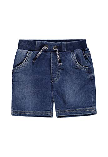 Bellybutton mother nature & me Jungen Knitted Jeans Shorts, Blau (Light Blue Denim|Blue 0014), (Herstellergröße: 116)