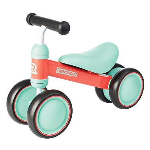 Retrospec Cricket Baby Walker Balance bike with 4 Wheels for ages 12-24 months (3659) Watermelon, One Size