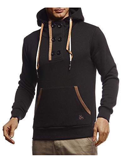 Leif Nelson Hoodie Pullover met capuchon voor mannen trui met lange mouwen sweatshirt lange mouwen slim fit LN8280