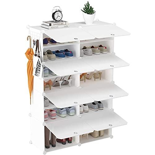 MKKYDFDJ Zapatero, Gabinete De Almacenamiento De Zapatos De 2 X 7 Niveles, 28 Pares Multicapa para El Hogar Gabinete para Zapatos, para Armario, Pasillo, Dormitorio, Entrada