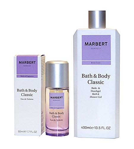 MARBERT GERMANY Bath & Body CLASSIC 2tlg. Duft & Pflegeset: Eau de Toilette Spray 50 ml + Bade & Duschgel 400 ml