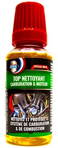 Nettoyant Carburation et Injection MOTO ERC/Évitez le Remplacement/Nettoie en Profondeur/Réduit la Consommation – Additif Moto Premium (50 ml)