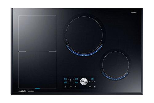Samsung NZ84J9770EK/EF autarkes Virtual Flame Induktionskochfeld / 80 cm / flexible Zone links / schwarz