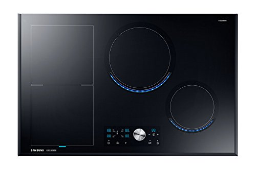 Samsung NZ84J9770EK/EF autarkes Virtual Flame Induktionskochfeld / 80 cm / flexible Zone links / schwarz