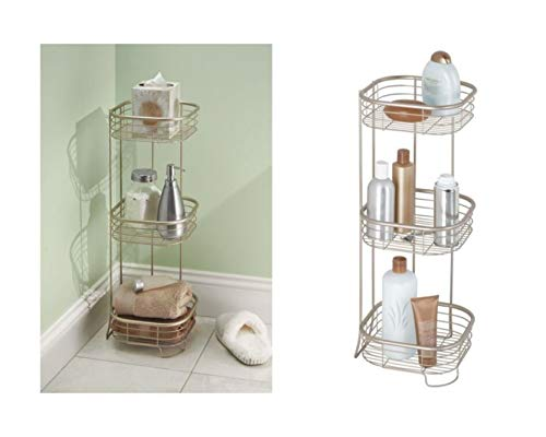 InterDesign Forma 3 Tier Shower Shelf-Rectangular, Satin
