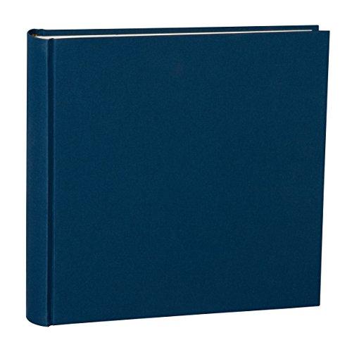 Semikolon (351040) Album XLarge marine (blau) - Foto-Album mit 130 Seiten - Cremeweißer Fotokarton mit Pergaminpapier - Format: 32,0 x 31,0 cm