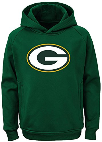 Outerstuff NFL Youth Team Color Performance Primary Logo Pullover Sweatshirt Hoodie, Jungen, Green Bay Packers, 8
