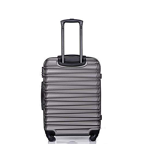 Pumpumly Juego de equipaje de 3 piezas Spinner Hardshell Maleta ligera, 20', 24', 28' (gris)