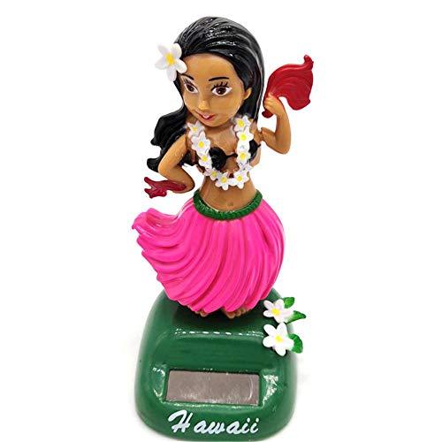 kitabetty Hawaiian Décoration Solaire, Danseuse Hawaienne Voiture Décoration De Voiture Solaire Beauté Herbe Jupe Poupée Décorative Danse Jouet Cadeau Voiture Décoration Intérieure