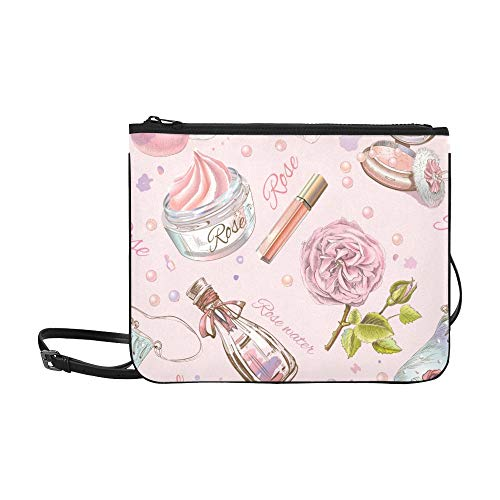 WYYWCY Rose Naturkosmetik benutzerdefinierte hochwertige Nylon dünne Clutch-Tasche Umhängetasche Umhängetasche