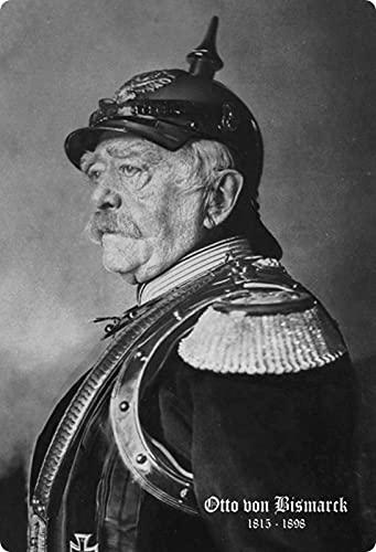 Blechschild 20x30cm gewölbt Otto von Bismarck schwarz weiß Deko Geschenk Schild