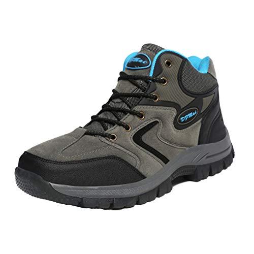Shaoyao Unisex Herren Hohe Hilfe Wasserdicht Und Atmungsaktiv Trekking-& Wanderstiefel Turnschuhe Socken schicken Grau 39 EU