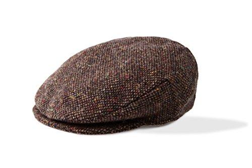 Irish Tweed Flat Cap for Men Handmade Wool Hats in Donegal (Brown Salt and Pepper, X-Large)