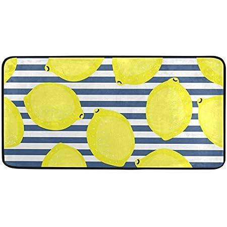 39 X 20 Lemon Flowers Design Non Slip Soft Kitchen Mats Bath Rug Runner Doormats Carpet For Home Decor Kitchen Dining Kitchen Rugs Florent Dejardin Fr