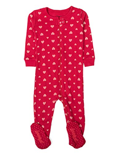 Leveret Hearts Footed Pajama Sleeper 100% Cotton 12-18 Months