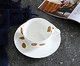 Opak Creative Pastoral Leaf Tree Ceramic Coffee Cup Taza de té Negro de cerámica Europea Breve y Elegante Tazas, Leaf Tree, 220ML
