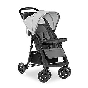 Hauck Shopper Neo II, silla de paseo con posiciones, plegado facil y compacto, plegado con una sola mano, ligera, desde nacimiento hasta 25kg, con botellero - gris