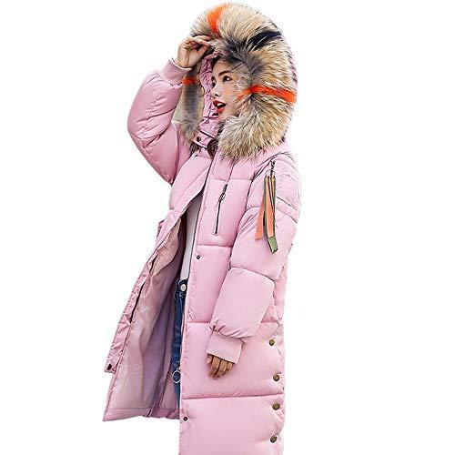 Writtian Winterjacke Damen Daunenjacke verdickt Wärmejacke Langmantel Frauen Jacke Winter Leicht Pelzkragen Steppjacke Großer Hut Daunenmantel Kapuzenmantel knielanger Parka Outwear
