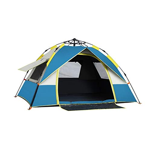 WGYDREAM Camping Tent Automatic Tent Pop Up Instant Tent Waterproof Family Outdoor Portable Lightweight Backpacking Tent for Hiking Mountaineering (Color : Blue, Size : 2-3 Person tent)