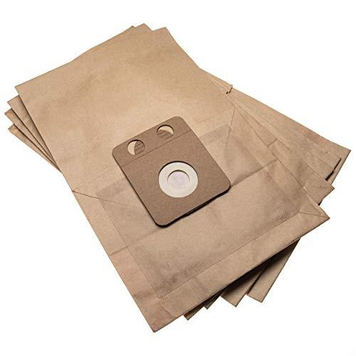 vhbw 5 Staubsaugerbeutel passend für Nilfisk VP600 series Staubsauger, Papier 34.55cm x 22.4cm