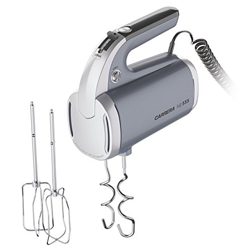 CARRERA elektrischer Handmixer No. 555, 2 Aufsätze (Schneebesen und Knethaken aus Edelstahl)