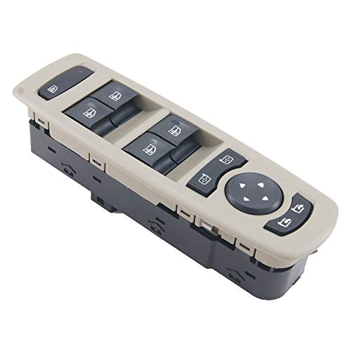 Nrpfell Cabina de Coche Interruptor de ElevacióN de Vidrio Interruptor de Elevalunas EléCtrico Elevador 254000006R para Megane
