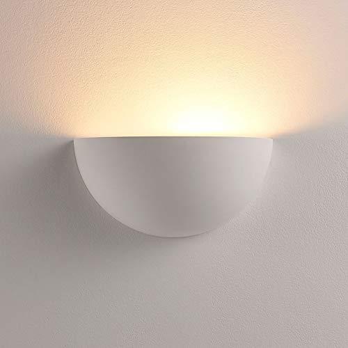 Lindby Wandleuchte, Wandlampe Innen 'Narin' dimmbar (Modern) in Weiß aus Gips/Ton u.a. für Wohnzimmer & Esszimmer (1 flammig, E14, A+, inkl. Leuchtmittel) - Wandfluter, Wandstrahler, Wandbeleuchtung