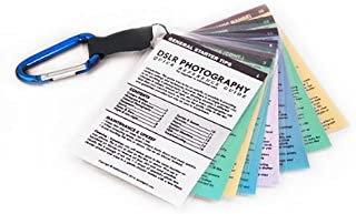 Canon DSLR Cheat Sheets Tip Cards for 80D 77D 70D EOS Rebel T7i T7 T6i T6 SL2 SL1 T5 T4 T3 60D 50D M10 M6 M5 M3 M50 M100 7D Mk II 6D 5D Mk IV III 5DS 1D X Digital Photography Camera How To Guide
