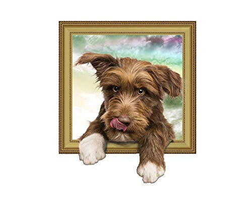 Wall Sticker/3D Cute Dog Photo Frame Wall Stickers/DIY Home Landscaping Decoration Stickers/PVC Waterproof Children's Room Stickers