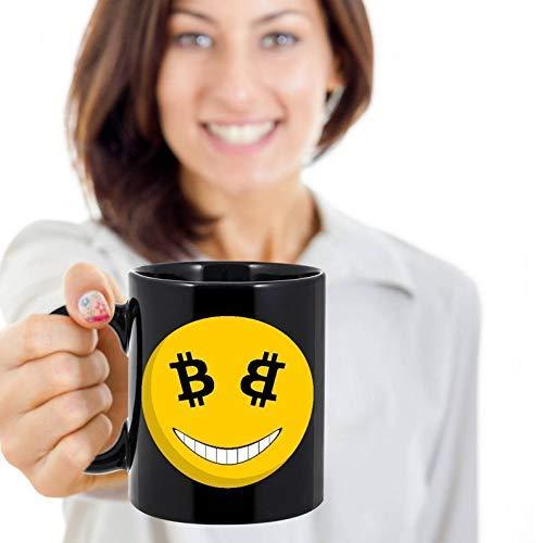 N\A Taza Feliz de Bitcoin de Bitcoin Taza de café de Bitcoin Regalo de Bitcoin Taza de Viaje de Bitcoin