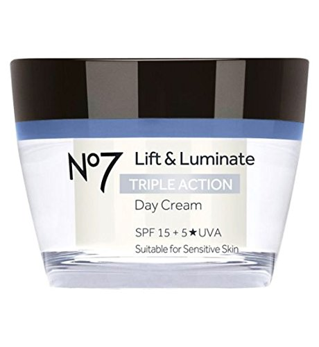 Boots No7 Lift & Luminate TRIPLE ACTION Day Cream 50ml 15 SPF + 5*UVA - Suitable for sensitive skin