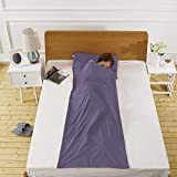 Lightweight Warm Roomy Cotton Sleeping Bag Liner Camping Travel Outdoor Picnic Travel Sheet Comfortable, for Travel, Youth Hostels, Picnic, Planes, Trains 83'X45'Navy